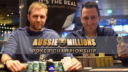 Aussie Millions Update: Spadavecchia and Rudd Take Events # 1& 2
