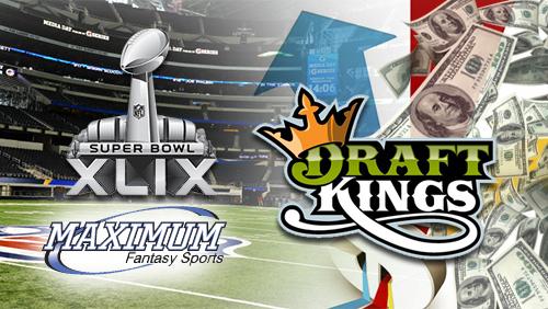 DraftKings 4Q 2014 revenue; Maximum Fantasy Sports to offer square pools on Super Bowl XLIX
