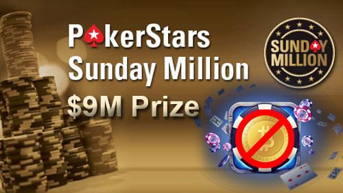 PokerStars Guarantee $9m for Sunday Million Ninth Anniversary and Shoot Down bitcoin Rumors
