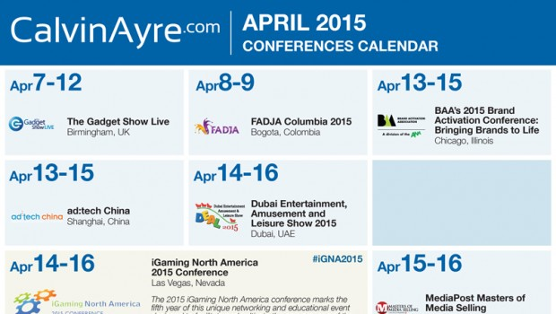 CalvinAyre.com Featured Conferences & Events: April 2015