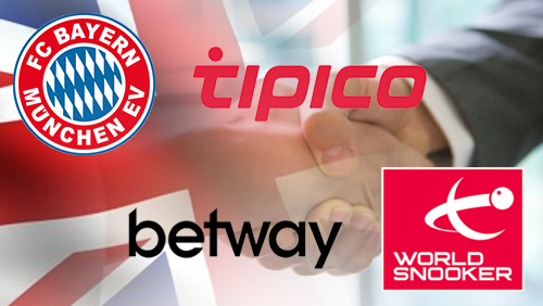 Bayern Munich sponsorship deal with Tipico; Betway dives into snooker sponsorship in the UK