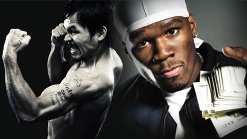 PacMan getting all the early action; 50 Cent plans to drop $1.6m on Money May