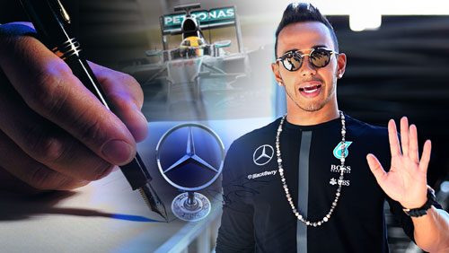 Lewis Hamilton Signs £100m Mercedes Deal