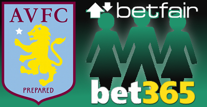 Aston Villa FC inks betting partnership threesome with Betfair, Bet365