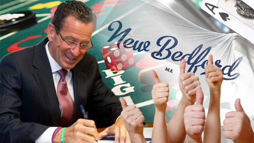 Connecticut guv signs casino bill; New Bedford residents approve casino proposal