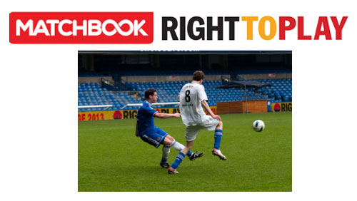 Matchbook to support Right To Play World Cup at Stamford Bridge