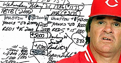 Bookie's notebook shows Pete Rose bet on baseball as a player