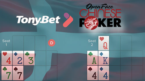 Danish Online Poker Gets Open Face Chinese Games Courtesy of TonyBet Poker