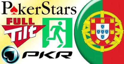 PokerStars, Full Tilt exit Portugal but vow return; PKR says market not viable