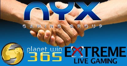 NYX Gaming acquire eGaming Consulting, ink SKS365, Extreme Live Gaming deals