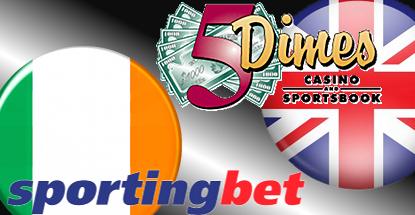 Sportingbet resolves Irish betting breach; 5Dimes exits UK market