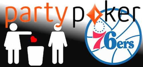 PartyPoker, Philadelphia 76ers sponsorship deal comes to premature conclusion