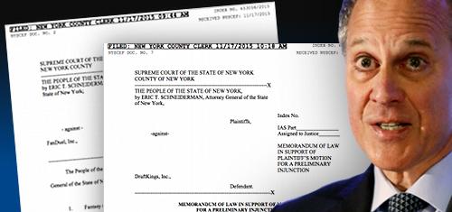New York attorney general seeks injunctions against DraftKings, FanDuel