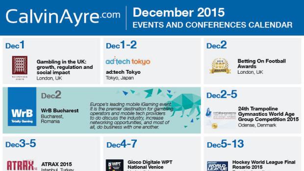 CalvinAyre.com Featured Conferences & Events: December 2015