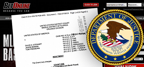 US Attorney in Florida indicts BetOnline payment processing ring