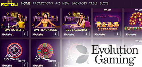 William Hill's new Macau casino debuts Evolution Gaming Live Baccarat Squeeze