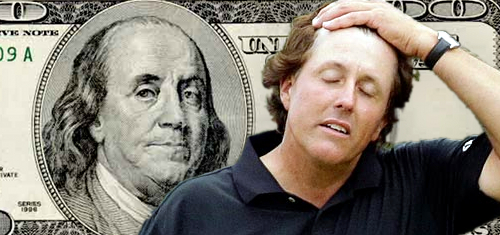 Golf body sees no signs of fixing; Lefty schools young 'un on betting talk