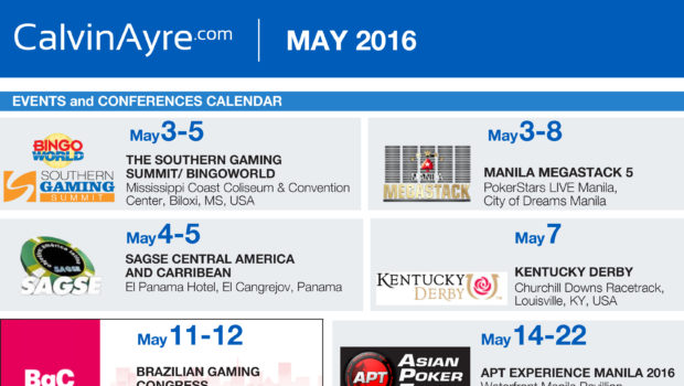 CalvinAyre.com Featured Conferences and Events: May 2016
