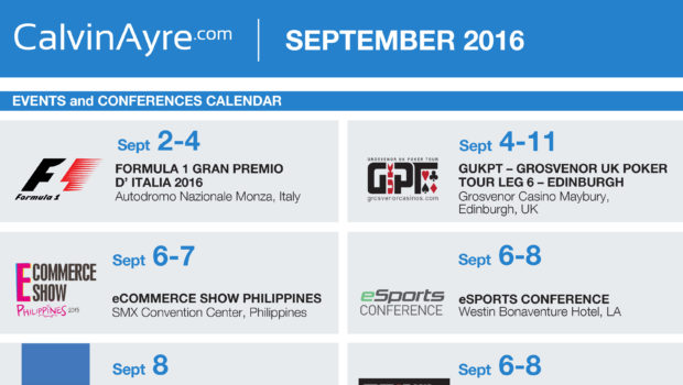 CalvinAyre.com Featured Conferences & Events: September 2016