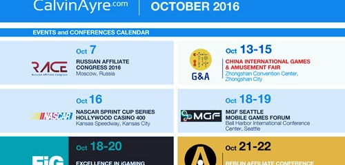 CalvinAyre.com Featured Conferences & Events: October 2016