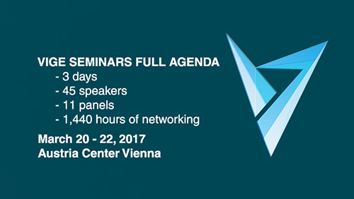 VIGE2017 is set to host 45 speakers during the 3 days of the show in 11 panels, announces 1440 hours of networking