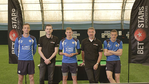 World snooker champions put Leicester City football stars to the test in Betstars challenge