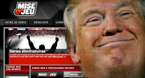 """Trump impeachment props prove too """"sensitive"""" for Loto-Quebec"""