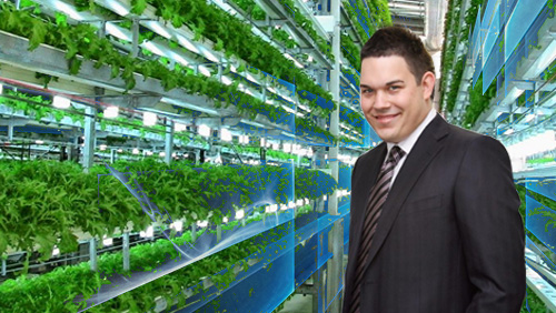 Former Intabill founder Daniel Tzvetkoff is running a vertical farm