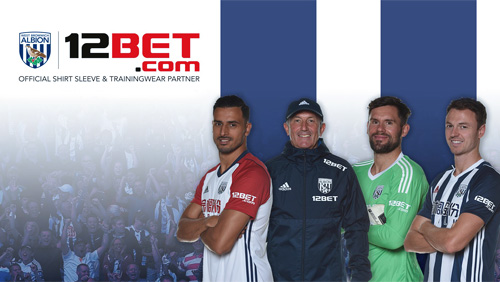 12BET announced as West Bromwich Albion's first ever shirt-sleeve sponsor