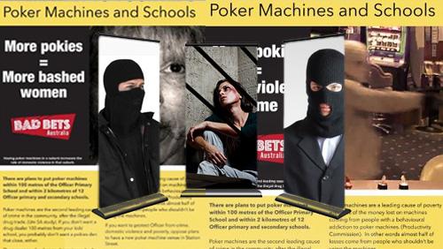 Australian anti-gambling group use shock tactics to squeeze Pokies club
