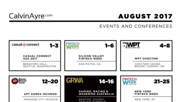 CalvinAyre.com featured conferences & events: August 2017