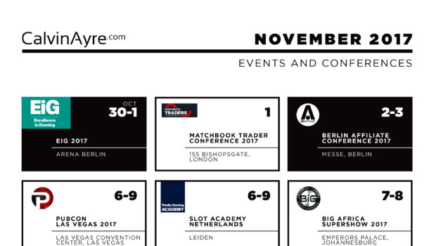 CalvinAyre.com featured conferences & events: November 2017