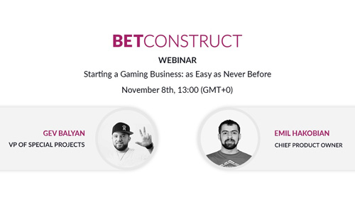 BetConstruct Webinar: Starting a gaming business: as easy as never before