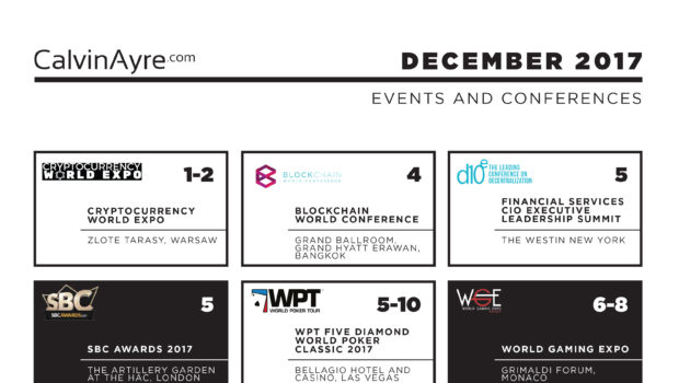 CalvinAyre.com featured conferences & events: December 2017