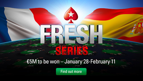 Pokerstars 'FRESH' series launches with €5 million guarantee