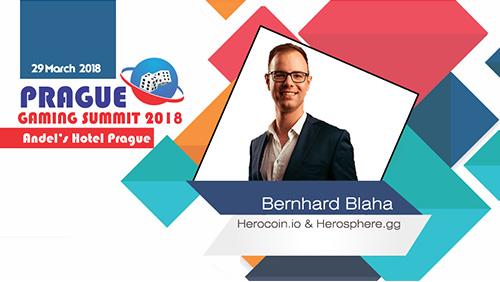 Prague Gaming Summit 2018 announces Bernhard Blaha(Co-founder of Herocoin.io & Herosphere.gg)