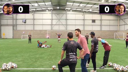 Hernandez and Antonio pair up with esports duo for CS:GO-themed football challenge
