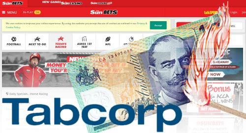 Tabcorp profit falls on Tatts merger costs, Sun Bets suckiness