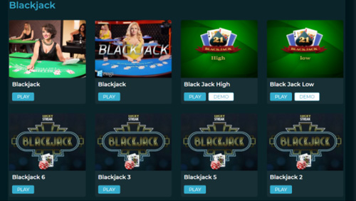 Live blackjack tables at Nissi Beach Online Casino