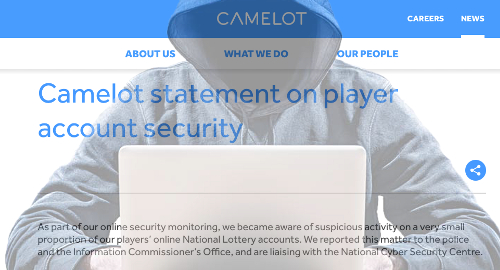 UK National Lottery online accounts hacked again