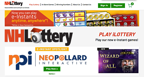 New Hampshire iLottery offers draw tickets, instant-win games