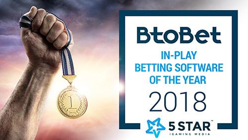 BtoBet recognised as 'in-play betting' industry leader