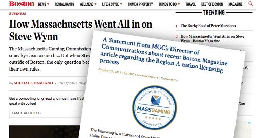 Massachusetts regulators push back on Wynn favoritism claims
