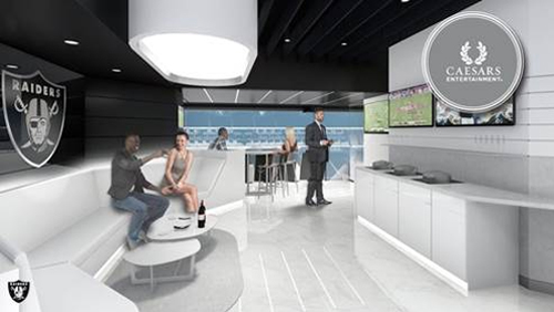 Caesars Entertainment becomes first founding partner of the Las Vegas Stadium, future home of the Raiders