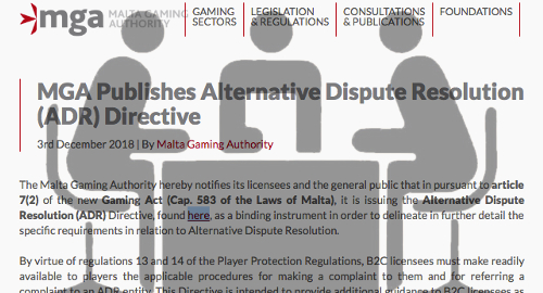 Malta regulator's new policy on Alternative Dispute Resolution