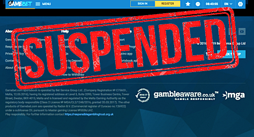 Malta Gaming Authority suspends Gamebet's parent co. license