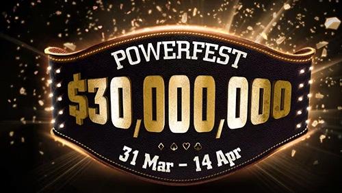 partypoker release POWERFEST schedule; online wins for the Staples bros & Pav