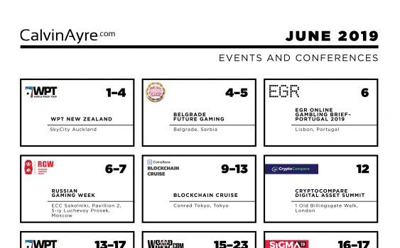 CalvinAyre.com June 2019 Featured Conferences & Events